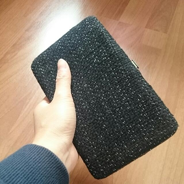 FOREVER NEW tweed Clutch