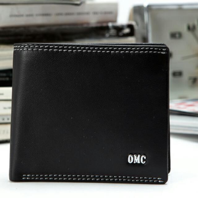 OMC 韓國專櫃品牌男用皮夾 柔軟羊皮
