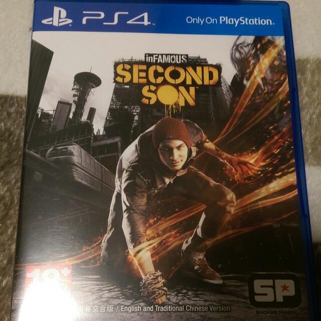 PS4 遊戲 中文 惡名昭彰 第二之子 二手 Second Son (商品價格含運費)