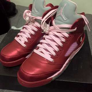 Air Jordan 5 retro 情人節Gs 7y 25cm eur40
