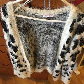 Hot Options (target) Black And White Cardigan/jacket