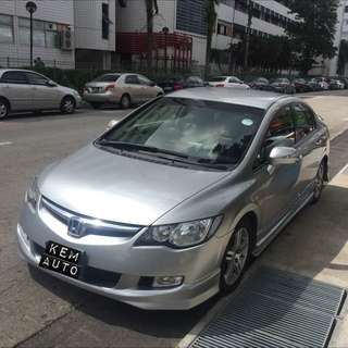Honda Civic 1.8L Auto Silver For Car Rental