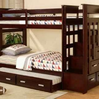 Tempat Tidur Tingkat Full Jati