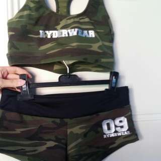 Ryderwear Army Crop And Bottoms