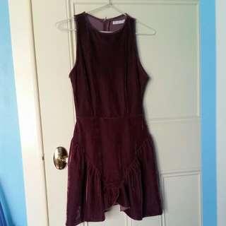 Mossman Pink Velvet Dress