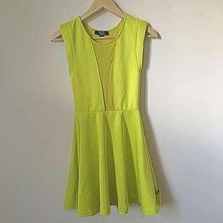 Paper heart Lime Yellow dress AU8