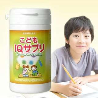 日本 森川 幼兒DHA+GABA+PS 智能提升魚油錠