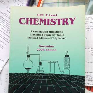 GCE A Levels Chemistry 2008 Edition