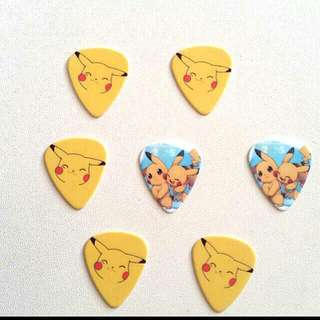 Pikachu Guitar Picks