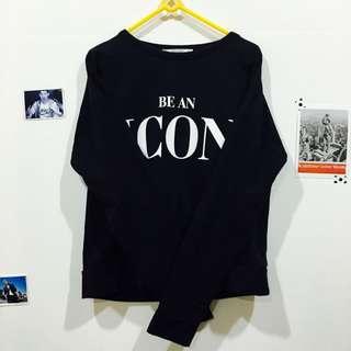 Pull&Bear Be An Icon短版圓領長袖