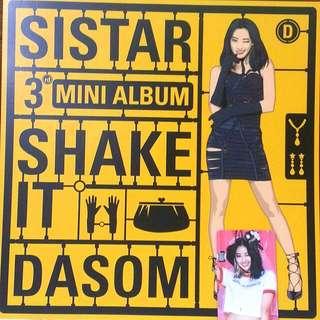 Sistar Dasom Picture Card