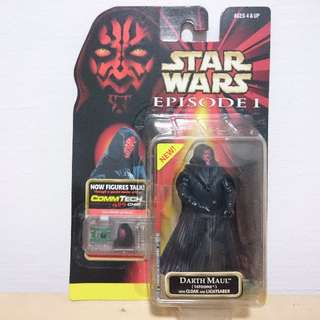 Star Wars Episode 1 DARTH MAUL TATOOINE Action Figure with CommTech Chip
