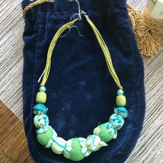 Preloved Fabric Necklace