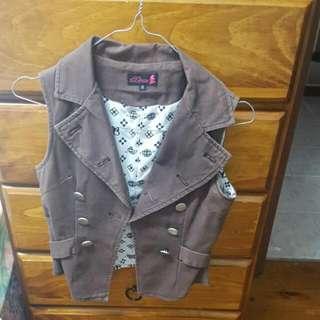 Brown Vest Size S