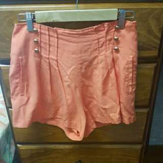 Orange High Top Shorts Size 8