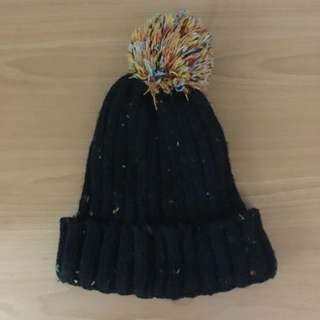 「全新」彩織混色毛帽