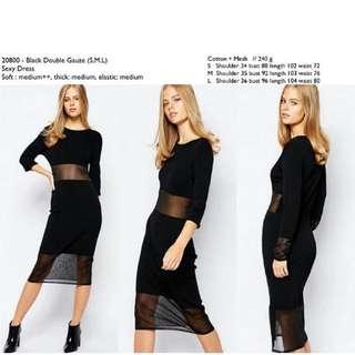 Black Dress Murah Dress Hitam
