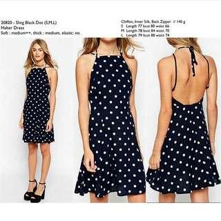 Poladot Black Dress