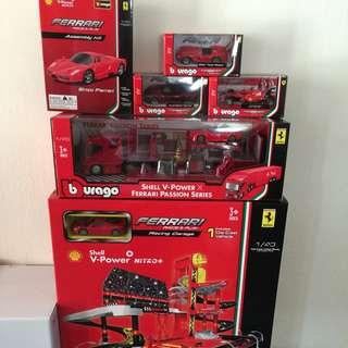 Latest Shell Ferrari Car Set For Sale