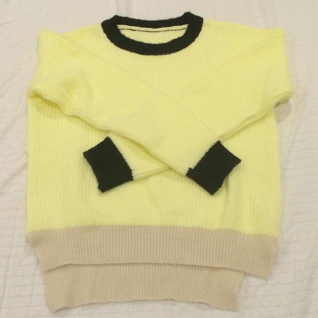 【9成新】拼色 撞色毛衣