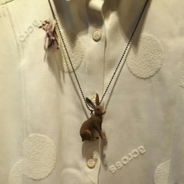 可愛兔子長項鍊