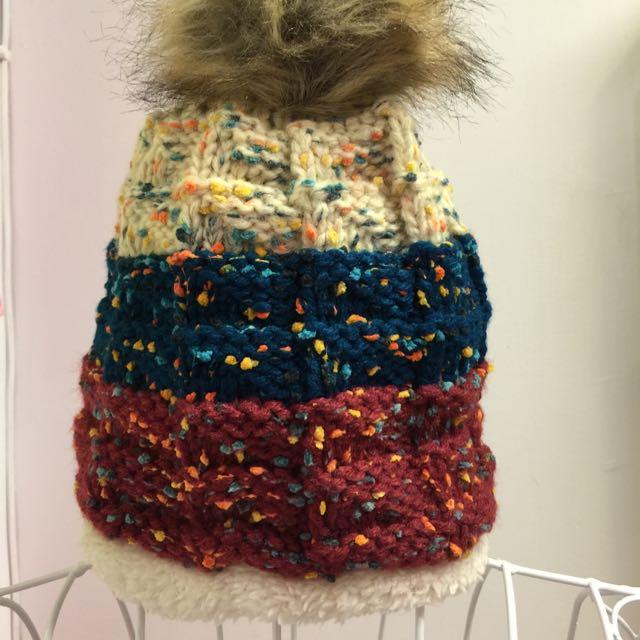 《韓版毛線帽》現貨賠本出清/台製/針織帽/冬季帽子/混色毛線帽