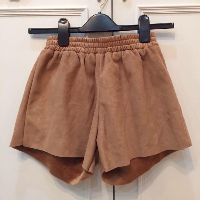 全新✨麂皮短褲 復古短褲