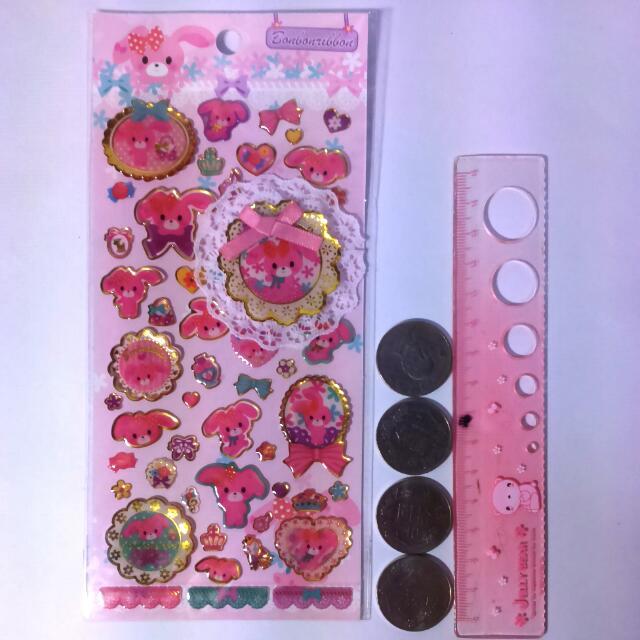 焦糖兔立體貼紙 日記裝飾貼 卡片裝飾