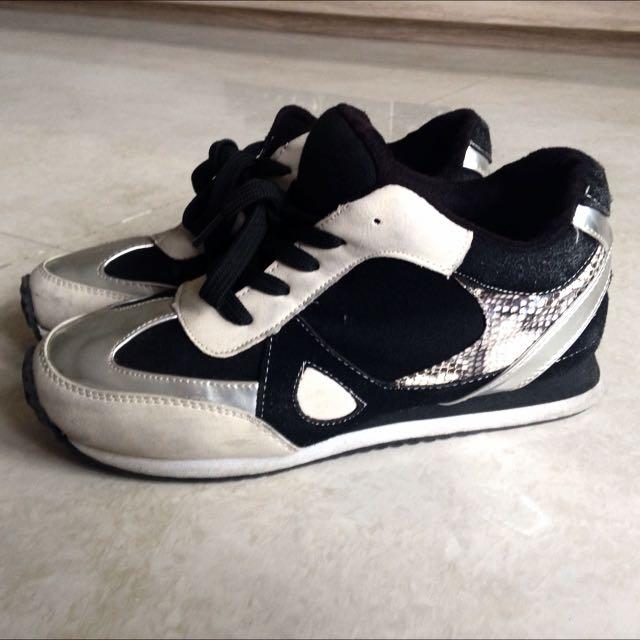 撞色運動鞋 慢跑鞋 韓版運動鞋 內增高 厚底運動鞋