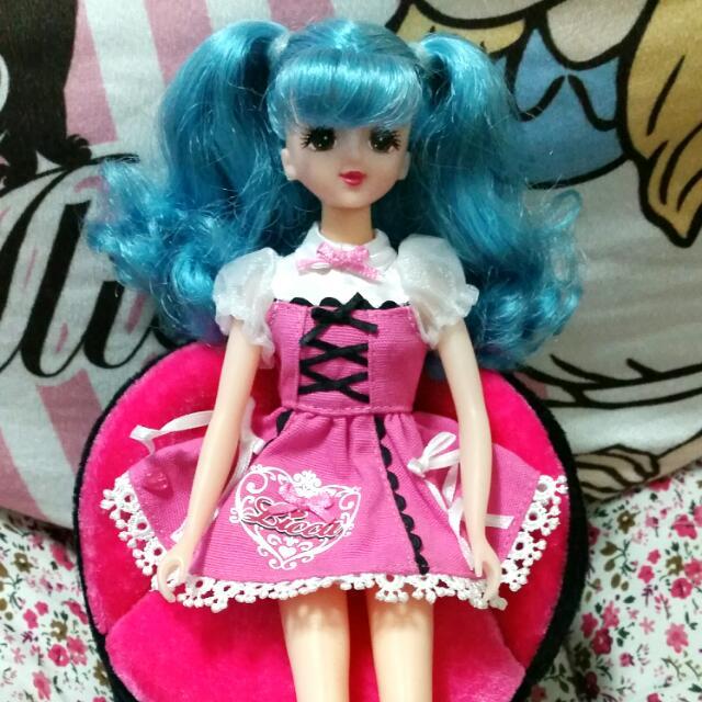 珍琳 莉卡 娃娃 洋裝 藍髮