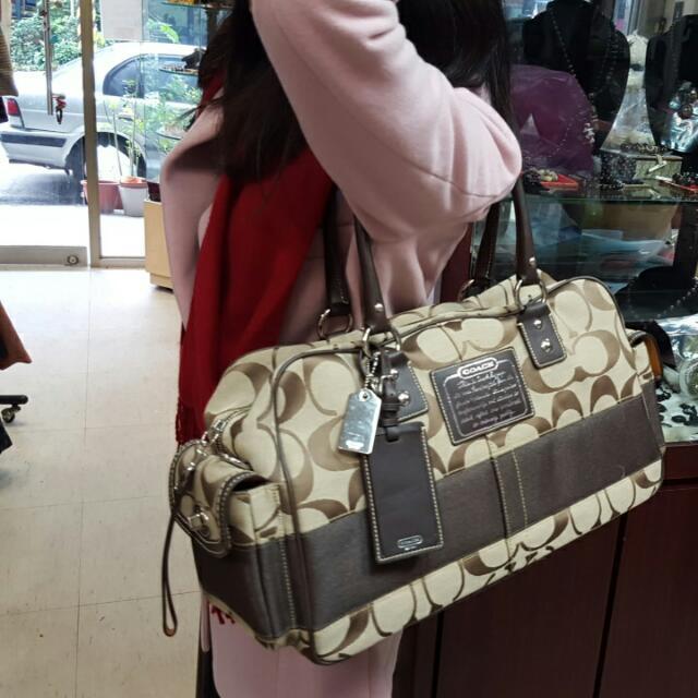 全新Coach旅行包 日本帶回 大背包 大提包 旅行提包