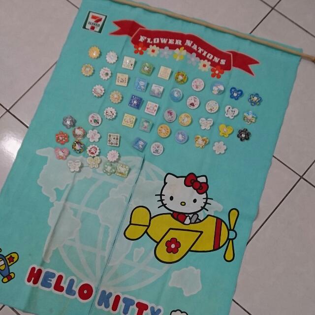 Hello Kitty 711集點限量門簾 別針