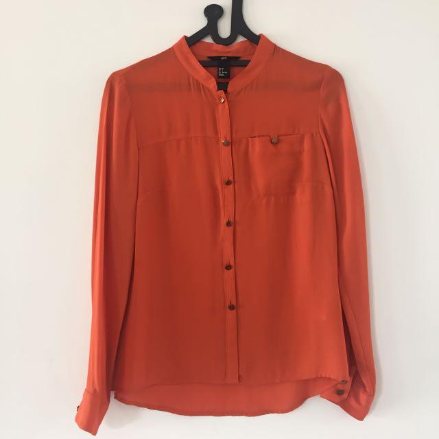 H&M Fresh Orange Blouse