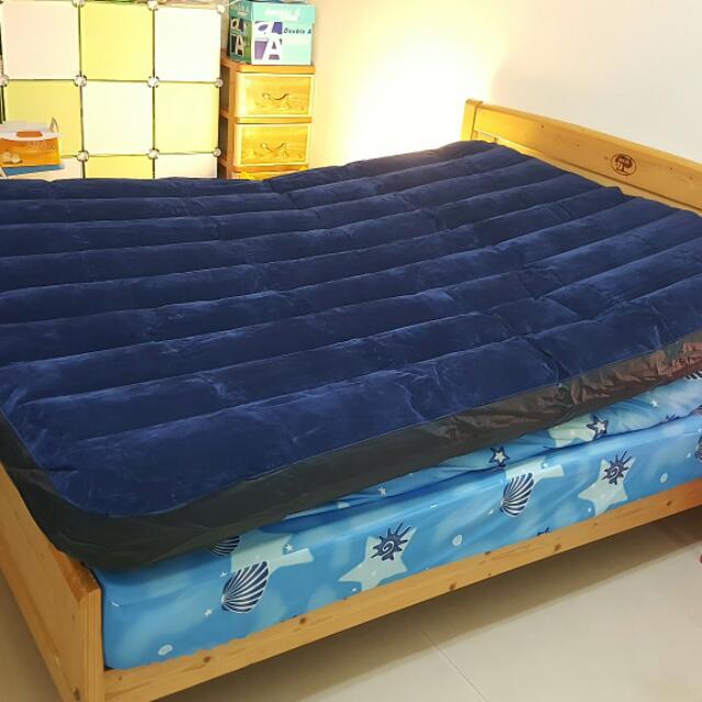 美國INTEX絲絨充氣床 雙人床墊 (雙人寬152cm) 套房搬家露營都好用