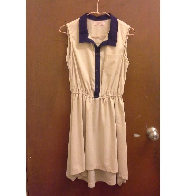 MAYUKI 粉膚藍領洋裝