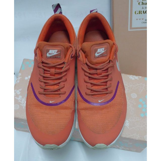 Nike AIR MAX Thea 橘白氣墊慢跑鞋