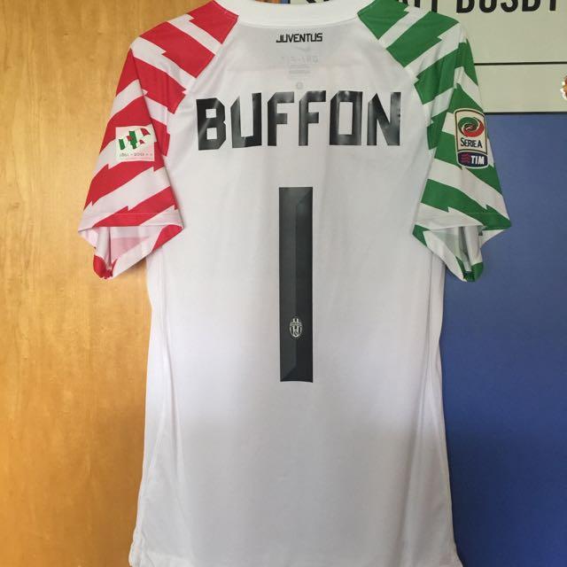 Official Authentic NIKE Juventus Home 2010-11 Goalkeeper GK Goalie Short  Sleeve Jersey BUFFON  1 Serie A 7735a5ffc