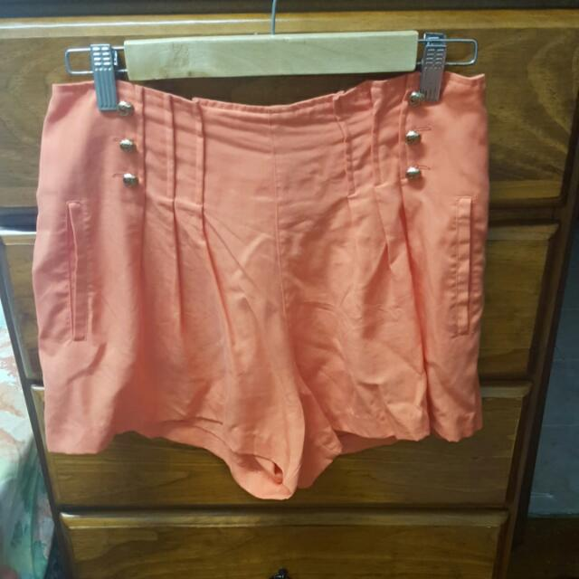 Orange High Top Shorts Size 8