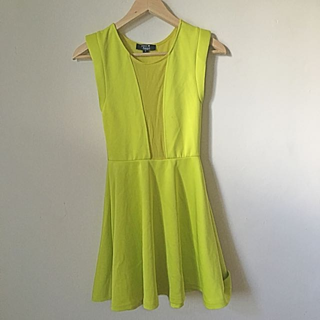 Paper heart Lime Yellow dress AU8