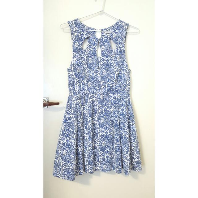 Porcelain Blue Skater Dress