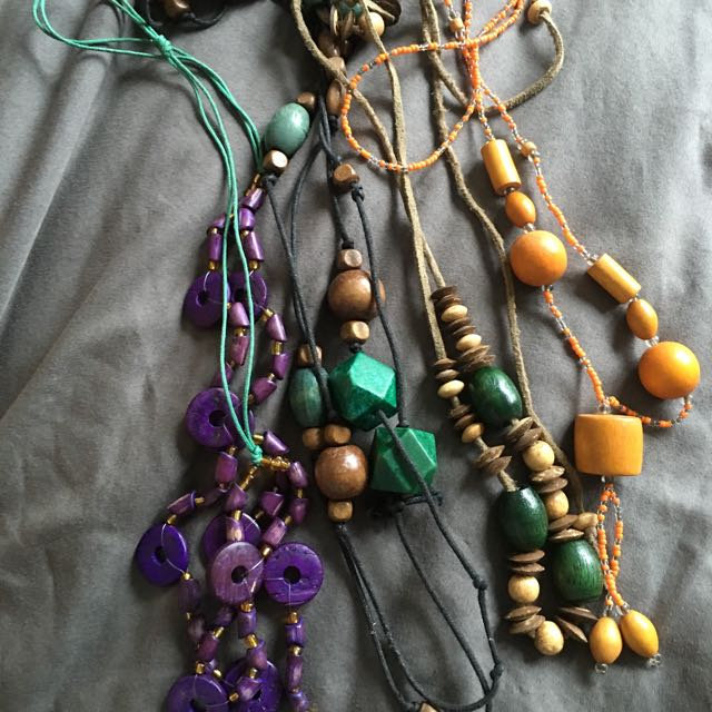 Preloved Summer Indie Bead Necklaces
