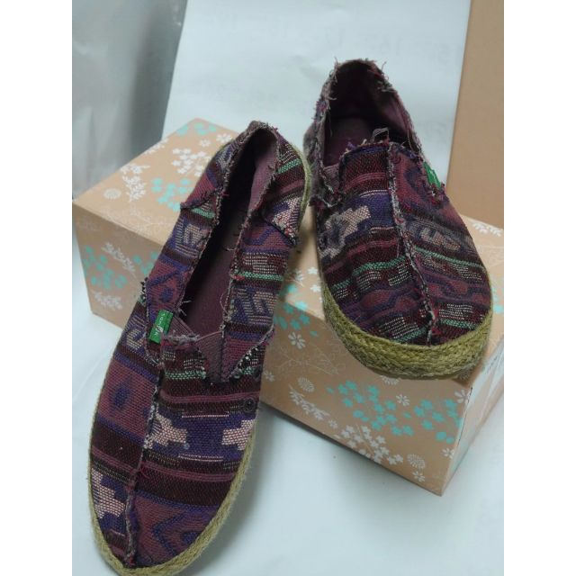 Sanuk竹藤編織民族風懶人鞋
