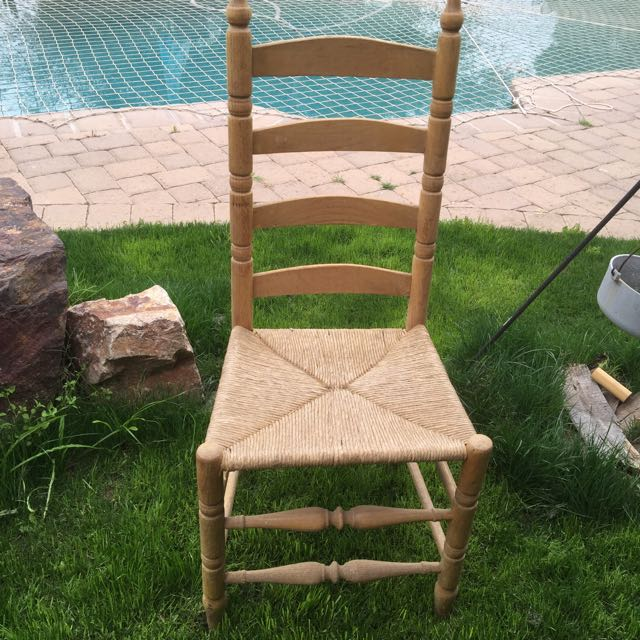 Set Of 4 Ladderback Chairs