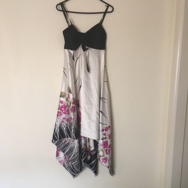 Silk Handkerchief Dress S/M