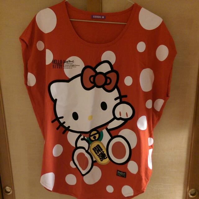 Stayreal X Hello Kitty 招財女版T SR