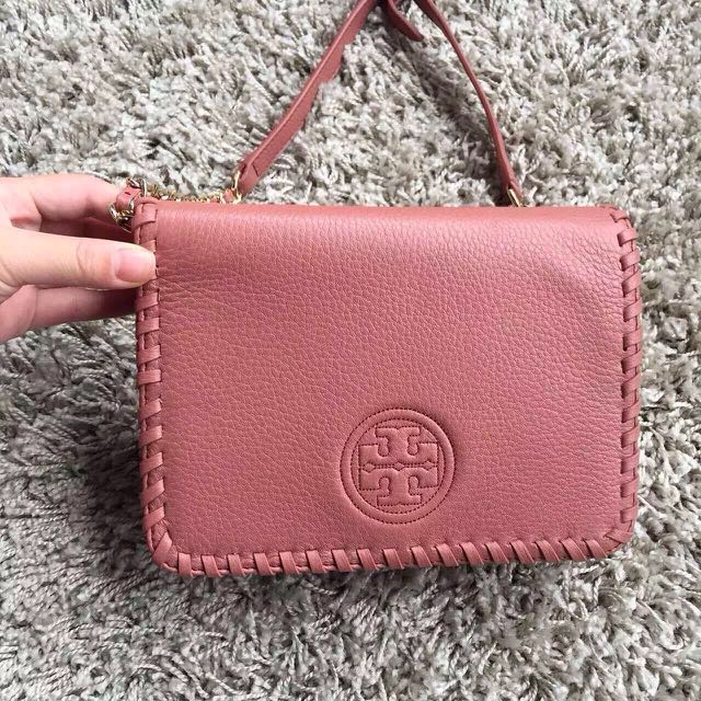 Tory burch Marion combo cross-body 編織鏈條牛皮晚宴包