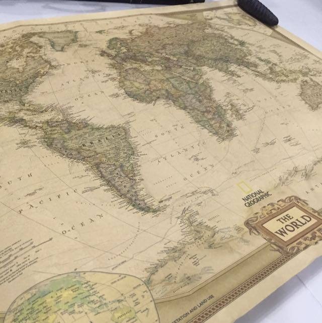 "Vintage Retro Paper World Map Antique Poster Wall Chart Home Decoration 28/""x18/"""