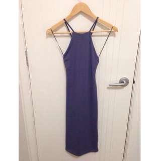 High-Neck Mid-Length Dress