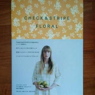 Check & Stripe Floral Pattern Book