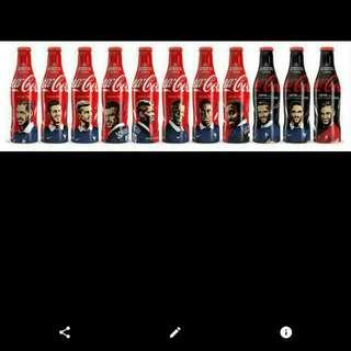Coca-Cola Eurocup Aluminum Bottle Complete Set 2015